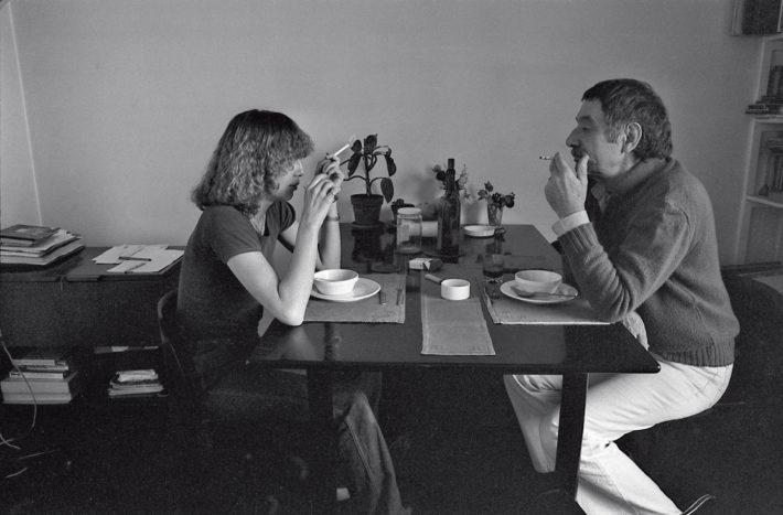 Barbara Radice and Ettore Sottsass, 1977. Selfie.
