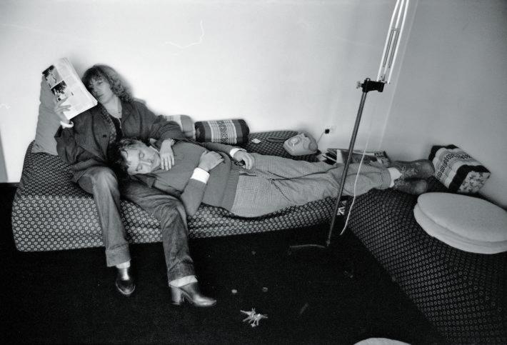 Barbara Radice and Ettore Sottsass, Milan, 1978. Selfie.