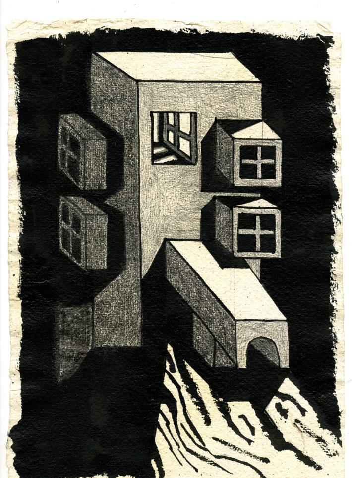 Ettore Sottsass, Architetture Nere, 1991.