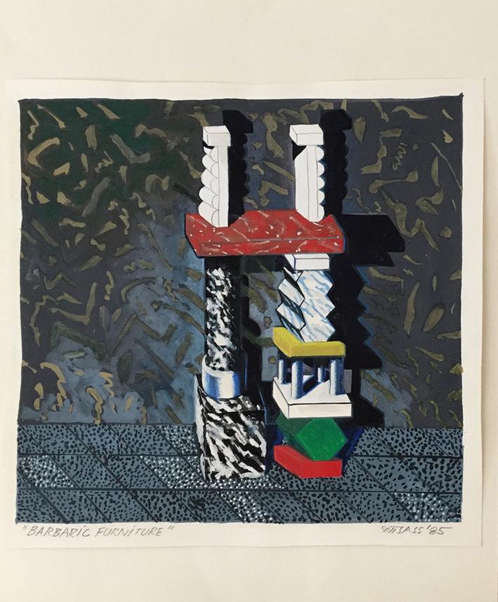 Ettore Sottsass, Barbaric Furniture, 1985.