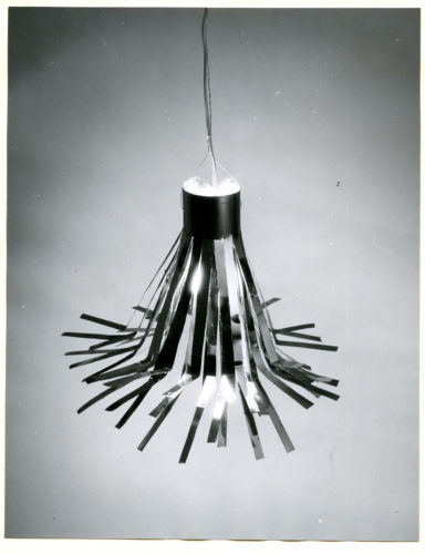 Ettore Sottsass, Lampada in alluminio, 1954.
