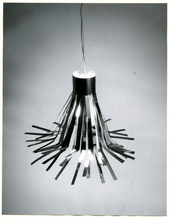 Ettore Sottsass, aluminum lamp, 1954.