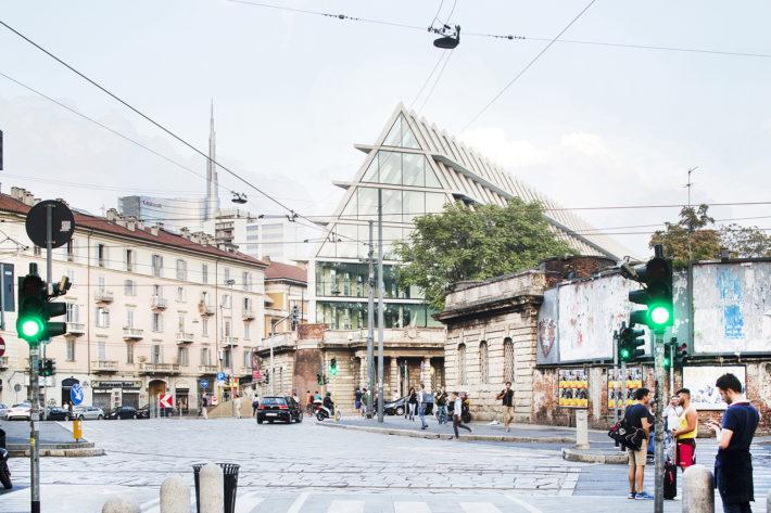 Fondazione Feltrinelli, Milan, Herzog & de Meuron, project 2008-13, construction 2013-16. Photo:©Filippo Romano.