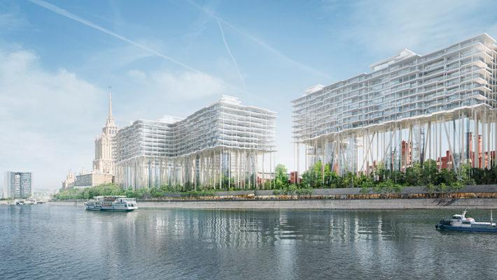 Redevelopment of theBadaevskiy Brewery, Moscow, Herzog & de Meuron, project underway. Rendering:©Herzog & de Meuron.