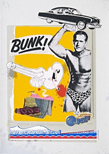 Eduardo Paolozzi, Bunk: Evadne in Green Dimension, 1952−1972. © Trustees of the Paolozzi Foundation, Licensed by/VG Bild-Kunst, Bonn 2018.
