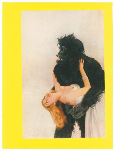 Eduardo Paolozzi, Bunk: Vogue Gorilla with Miss Harper, 1950−1972. © Trustees of the Paolozzi Foundation, Licensed by/VG Bild-Kunst, Bonn 2018.