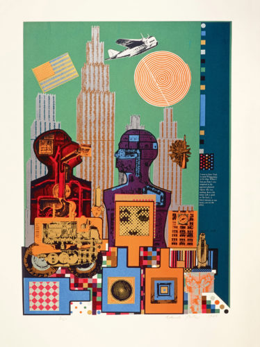 Eduardo Paolozzi, As is When: Wittgenstein in New York, 1965. © Trustees of the Paolozzi Foundation, Licensed by/VG Bild-Kunst, Bonn 2018.