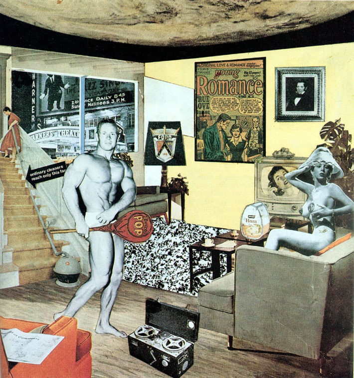 Richard Hamilton, Just what is it that makes today's homes so different, so appealing?, 1956. Kunsthalle Tübingen, Tübingen.