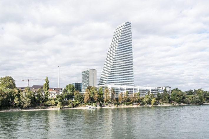 Roche Tower, Basel,Herzog & de Meuron, project 2009-15, construction 2011-15. Photo:©Johannes Marburg.