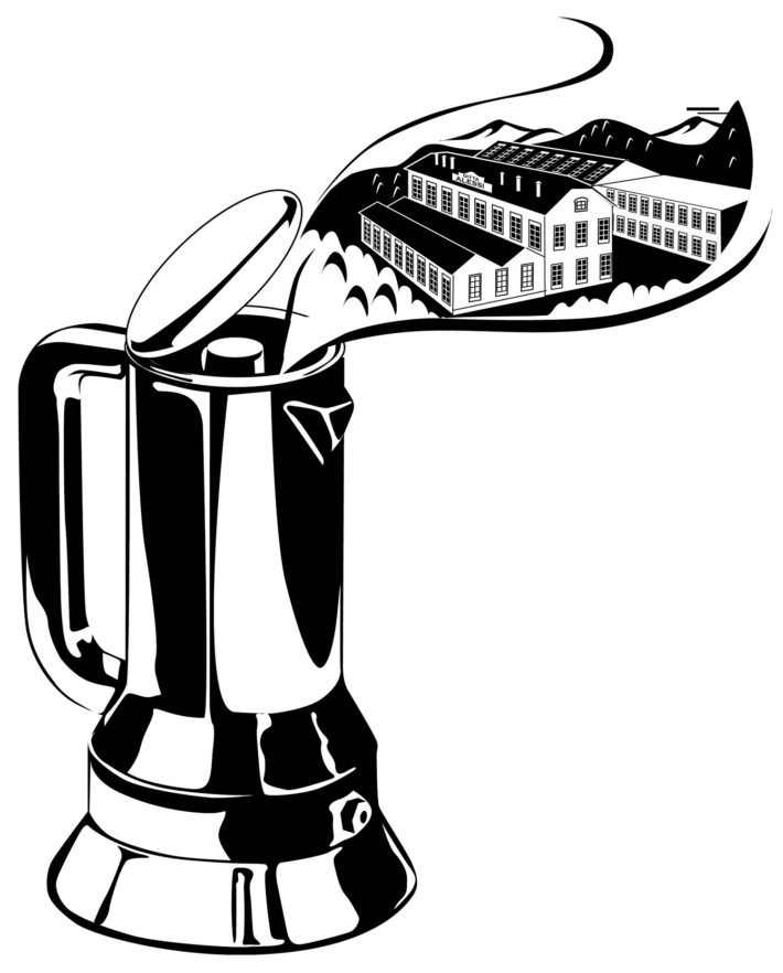 9090 coffee maker designed by Richard Sapper for Alessi, 1979.