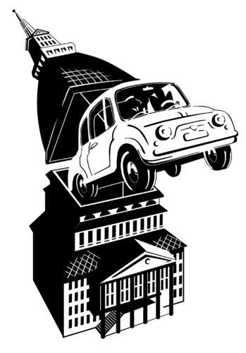 La Fiat 500 progettata da Dante Giacosa nel 1957.