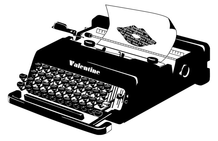 Valentine typewriter designed by Ettore Sottsass for Olivetti, 1969.
