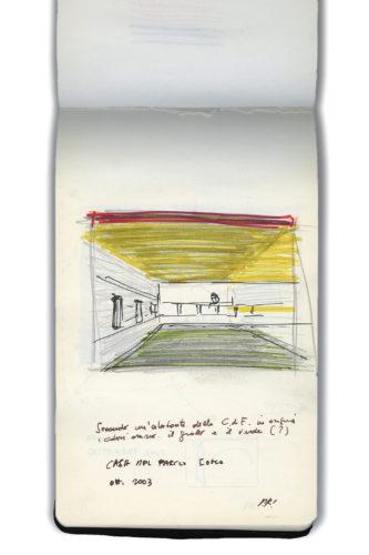 Taccuino Terragni, 2003. Disegno: © Paolo Rosselli.