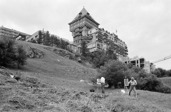 Badrutt's Palace Hotel, St. Moritz, Engadine, 1982. Photo: © Paolo Rosselli.