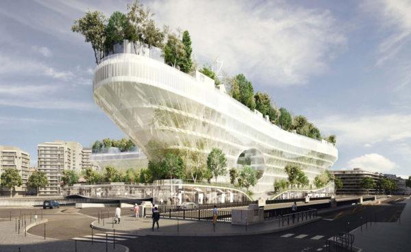 Mille Arbres, progetto di Manal Rachdi OXO Architectes + Sou Fujimoto Architects. © Manal Rachdi OXO Architectes + Sou Fujimoto Architects.