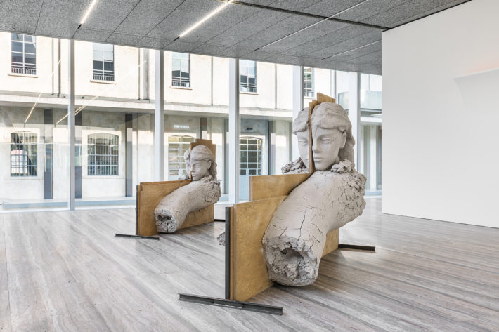 Mark Manders, Room with Unfired Clay Figures, 2011-15. Image of the exhibition Sanguine. Luc Tuymans on Baroque, Fondazione Prada. Photo: Delfino Sisto Legnani and Marco Cappelletti. Courtesy Fondazione Prada.