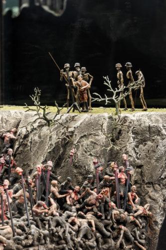 Jake Chapman e Dinos Chapman, Fucking Hell, 2008. Immagine della mostra Sanguine. Luc Tuymans on Baroque, Fondazione Prada. Foto: Delfino Sisto Legnani e Marco Cappelletti. Courtesy Fondazione Prada.