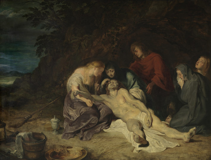 Peter Paul Rubens, The Lamentation over the Dead Christ with St. John and the Holy Women, 1614. Royal Museum of Fine Arts Antwerp, © Lukas-Art in Flanders VZW. Foto: Hugo Maertens.