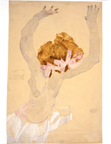 Egon Schiele,Die Blinde(The Blind Woman), 1911.Gouache, white highlights, and pencil on paper. Museum Ulm Picture: © Mario Gastinger, München.