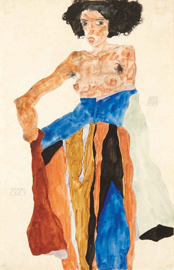 Egon Schiele,Moa, 1911. Gouache, watercolor, and pencil on paper. Private collection, London Picture: © Mathias Kessler, 2017.