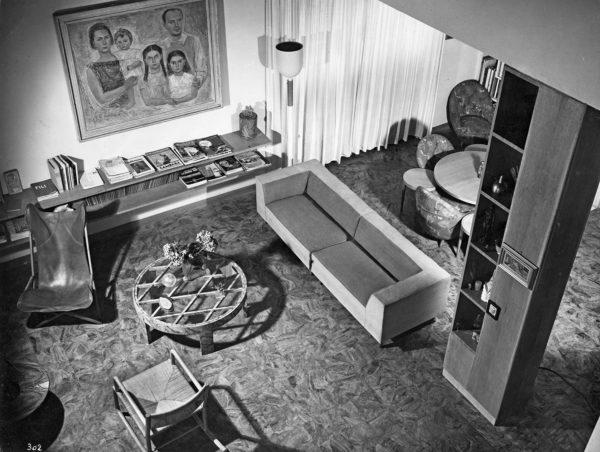 Casa Laporte, via Brin 12, Milano, 1936, interno, progetto di Gio Ponti, Antonio Fornaroli ed Eugenio Soncini. © Gio Ponti Archives, Milano.
