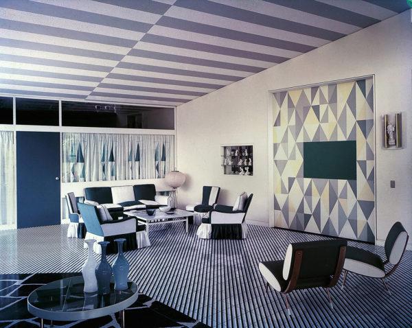 Soggiorno della Villa Arreaza, Caracas, progetto di Gio Ponti, 1956. © Gio Ponti Archives, Milano.