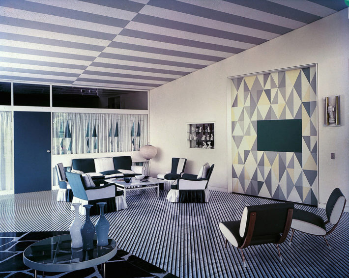 Living room of Villa Arreaza, Caracas, designed by Gio Ponti, 1956. © Gio Ponti Archives, Milan.