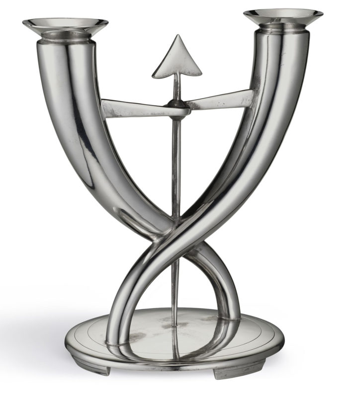 Flèche candelabrum, 1928, Gio Ponti for Christofle, Paris, Héritage Christofle. © Stéphane Garrigues.