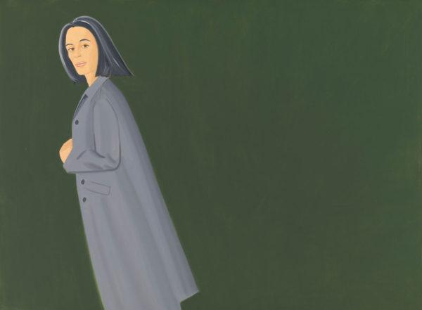Alex Katz, Grey Coat, 1997, olio su tela. © Alex Katz, VG Bild-Kunst, Bonn 2018, Courtesy Udo and Anette Brandhorst Collection. Foto: Haydar Koyupinar, Bayerische Staatsgemäldesammlungen, Monaco di Baviera.