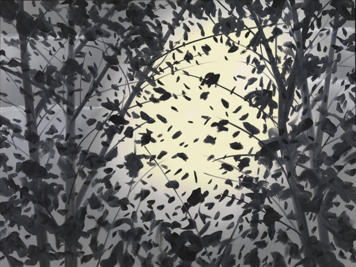 Alex Katz, Moonlight, 1997, olio su tela. © Alex Katz, VG Bild-Kunst, Bonn 2018, Courtesy Udo and Anette Brandhorst Collection. Foto: Haydar Koyupinar, Bayerische Staatsgemäldesammlungen, Monaco di Baviera.