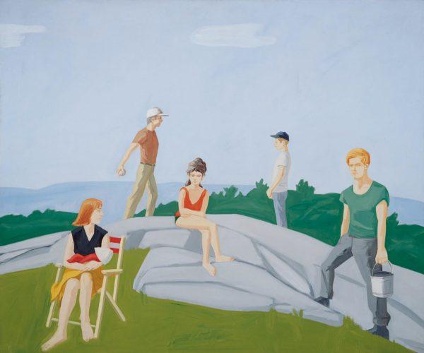 Alex Katz, Ives Field 1, 1964, olio su tela. © Barnett Newman Foundation/VG Bild-Kunst, Bonn 2018, Courtesy Jablonka Galerie, collezione privata. Foto: