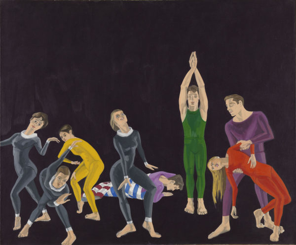 Alex Katz, Paul Taylor Dance Company, 1963-64, olio su tela. © Alex Katz, VG Bild-Kunst, Bonn 2018, Courtesy Udo and Anette Brandhorst Collection. Foto: Haydar Koyupinar, Bayerische Staatsgemäldesammlungen, Monaco di Baviera.