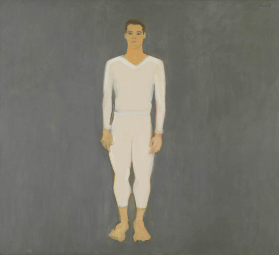 Alex Katz, Paul Taylor, 1959, olio su tela. © Alex Katz, VG Bild-Kunst, Bonn 2018, Courtesy Udo and Anette Brandhorst Collection. Foto: Haydar Koyupinar, Bayerische Staatsgemäldesammlungen, Monaco di Baviera.