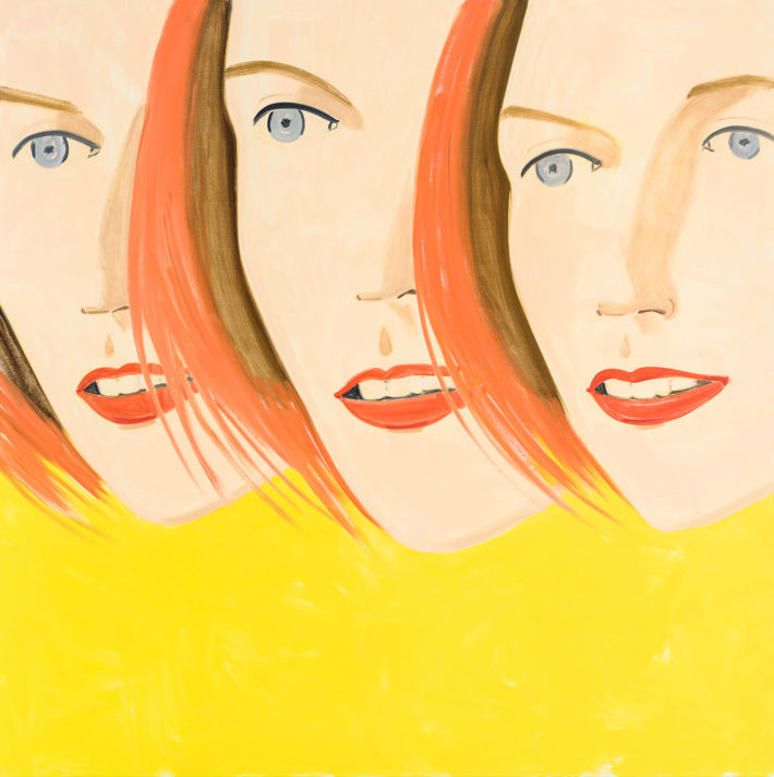 Alex Katz, Emma 4, 2017, olio su tela. © Alex Katz, VG Bild-Kunst, Bonn 2018, Courtesy Gavin Brown's Enterprise, New York / Rome, collezione privata. Foto: