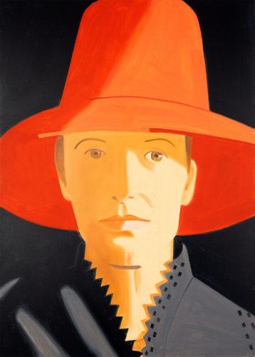 Alex Katz, Red Hat (Alba), 2013, oil on canvas. © Alex Katz, VG Bild-Kunst, Bonn 2018, private collection. Photo: Andreas Pauly.