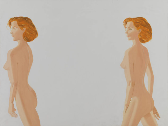 Alex Katz, Red Nude, 1988, olio su tela. © Alex Katz, VG Bild-Kunst, Bonn 2018, Courtesy Udo and Anette Brandhorst Collection. Foto: Haydar Koyupinar, Bayerische Staatsgemäldesammlungen, Monaco di Baviera.