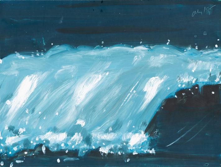 Alex Katz, Big Wave, 2001, oil on canvas. © Alex Katz, VG Bild-Kunst, Bonn 2018, private collection. Photo: Andreas Pauly.