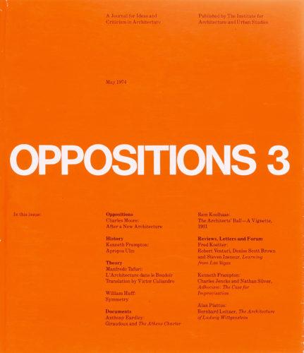 Massimo Vignelli, Lella Vignelli, Oppositions 3, 1974.