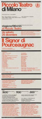 Massimo Vignelli, Piccolo Teatro di Milano, 1964. © The Museum of Modern Art / Licensed by SCALA / Art Resource, NY.