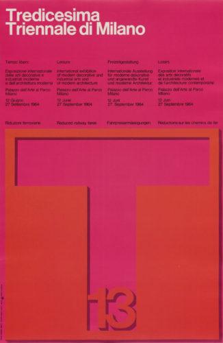 Massimo Vignelli, Tredicesima Triennale di Milano, 1964.