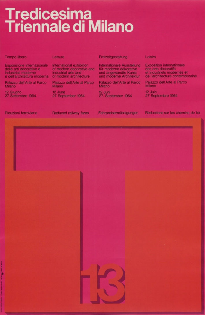 Massimo Vignelli, Tredicesima Triennale di Milano, 1964. © The Museum of Modern Art / Licensed by SCALA / Art Resource, NY.
