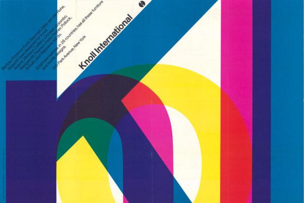 Manifesto per Knoll International, USA, 1967. Foto: Elizabeth Torgeson-Lamark (RIT). Design: Vignelli 1954-2014, © 2018 Rizzoli International Publications, New York, e Beatriz Cifuentes-Caballero.