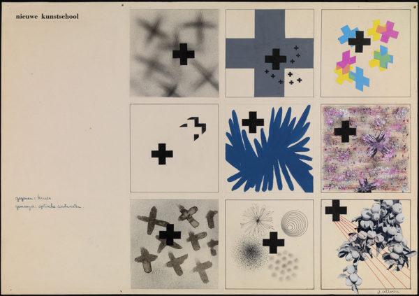 Jettie Olivier, elaborato scolastico realizzato presso la Nieuwe Kunstschool, 1938 circa, gouache su carta. Collezione privata.