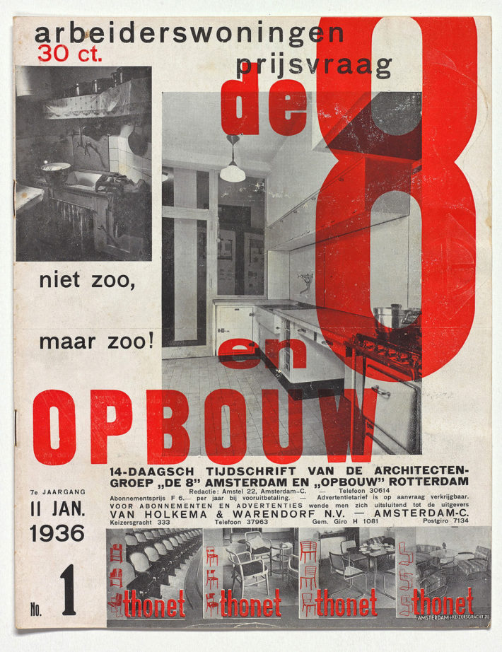 Issue of De 8 en Opbouw, January 11, 1936. Private collection, the Netherlands.