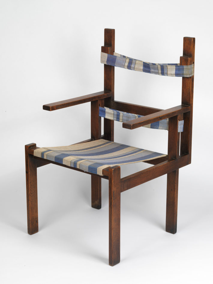 Marcel Breuer, ti 1a armchair, 1923, wood, textile, made in the furniture workshop at the Bauhaus in Weimar. Museum Boijmans Van Beuningen, Rotterdam. Photo: © Tom Haartsen.