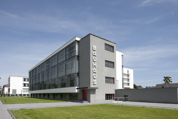 Walter Gropius, Bauhaus Building in Dessau, 1925-26, view from south. Photo: © Tadashi Okochi, Pen Magazine, 2010, Stiftung Bauhaus Dessau.