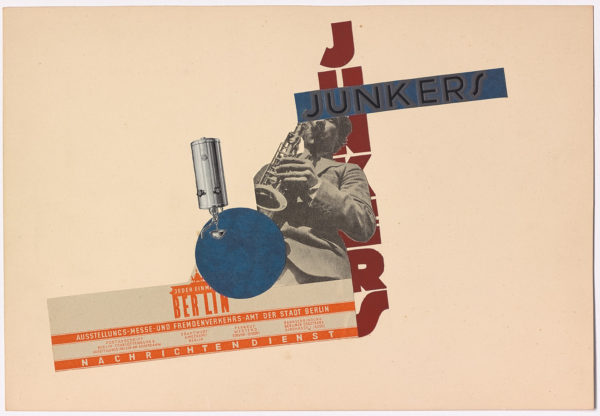 Johan Niegeman, Junkers, 1929, paper collage on card. Private collection.