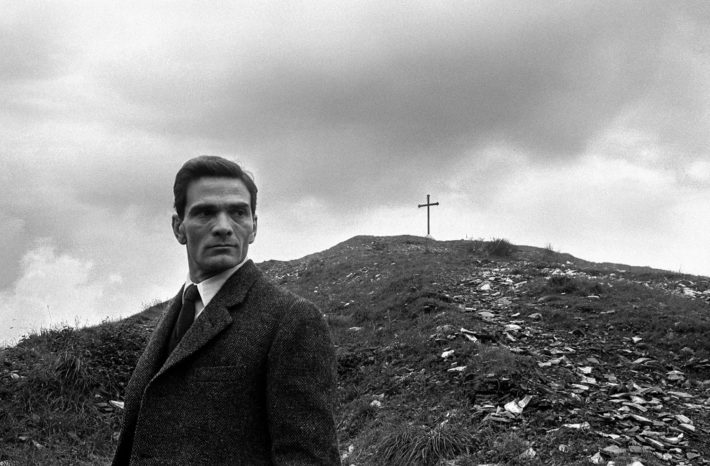 "Pier Paolo Pasolini at the ""Monte dei Cocci,"" Rome, 1960. Photo: Paolo Di Paolo, © Archivio Paolo Di Paolo, Courtesy MAXXI Photography Collection."
