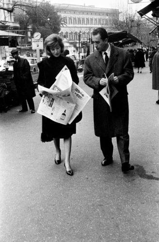 Monica Vitti e Michelangelo Antonioni, Roma, 1958. Foto: Paolo Di Paolo, © Archivio Paolo Di Paolo.