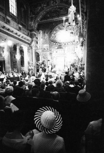Matrimonio di Olimpia Torlonia, Roma, 1965. Foto: Paolo Di Paolo, © Archivio Paolo Di Paolo.